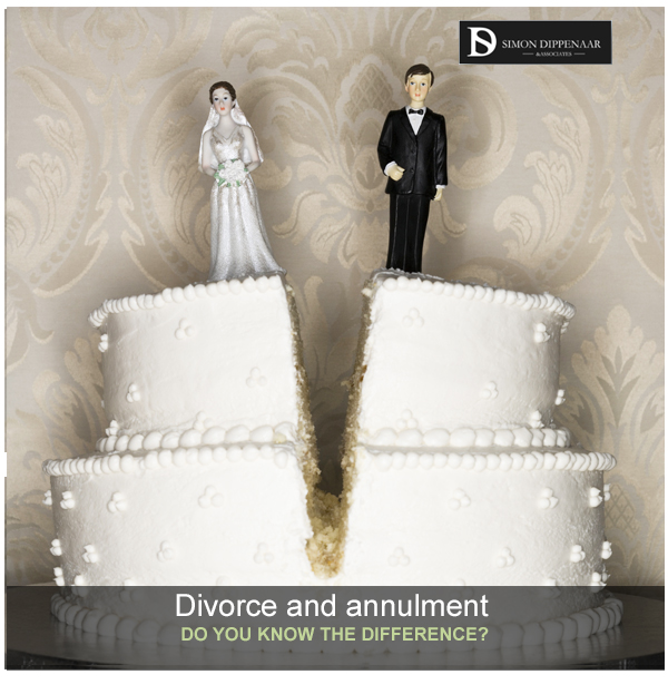 Understand the different between divorce and annulment