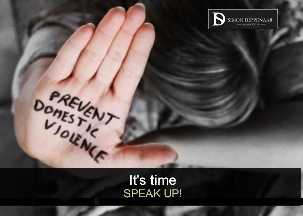 Speak up against domestic abuse