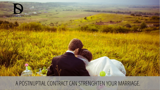 Postnuptial contract can strengthen your marriage