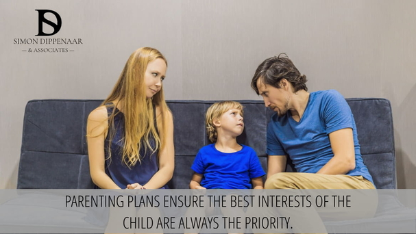Parenting plans ensure the best interests of a child are always the priority