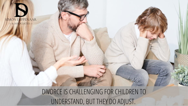 Divorce is challenging for children to understand, but they do adjust.