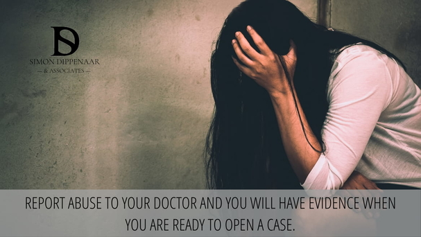 Report abuse to your doctor and you will have evidence when you are ready to open a case.