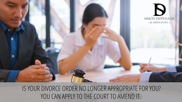 vary divorce order